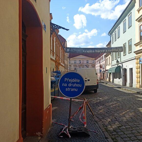 Stavební úpravy v ulici Michalská